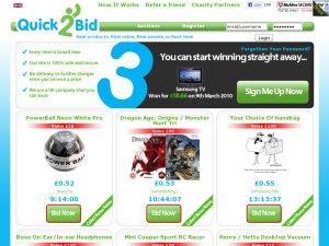 Quick2Bid website
