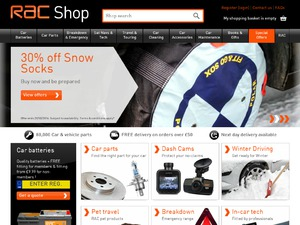 RAC Shop website