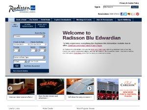 Radisson Hotels website