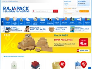 Rajapack website