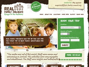 Real Family Holidays website