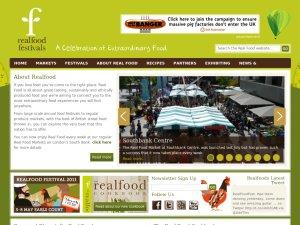 Real Food Festival website