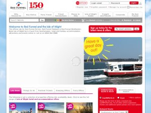 Red Funnel website
