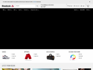 Reebok Store website