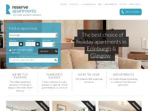 Reserve Apartments website