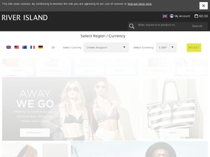 River Island website