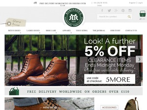 Robinson's Shoes website