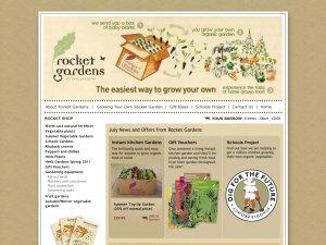 Rocket Gardens website