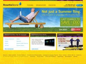 Rosetta Stone website