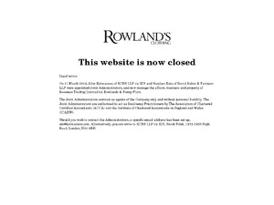 Rowland's Classic Clothing website