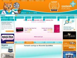 Rowlands Pharmacy website