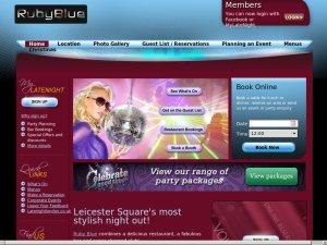 Ruby Blue Bar website
