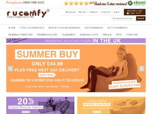 Rucomfy Bean Bags website