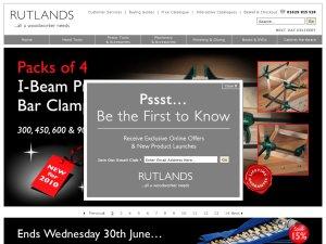 Rutlands Woodworking website