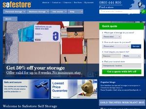 Safe Store website