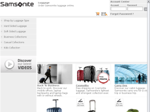 Samsonite website