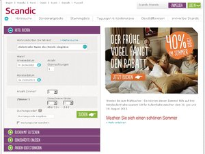 Scandic Hotels website