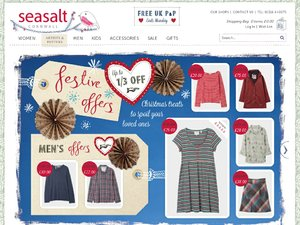 Active Seasalt Vouchers & Discount Codes for December Nothing says the new season like Seasalt. Started in Cornwall by Sophie Chadwick, this is a brand with a maritime heritage that echoes in every one of its products.
