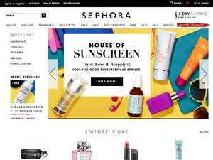 Sephora website