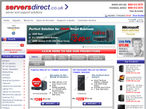 Serversdirect website