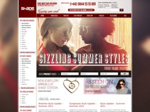 Shade Station website