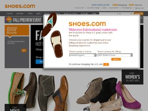 shoes.com website
