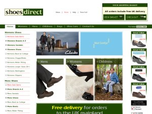 Shoes Direct website
