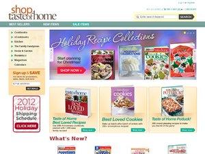 Shop Taste of Home website