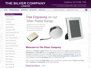 The Silver Company website