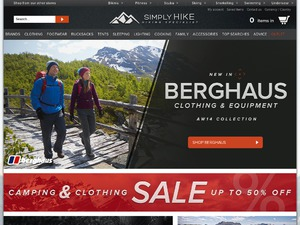 Simply Hike website