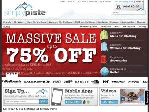Simply Piste website