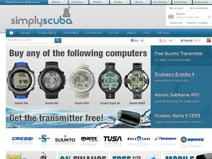 Simply Scuba website
