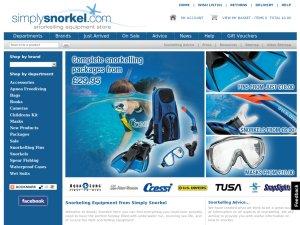 Simply Snorkel website