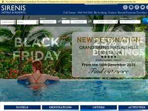 Sirenis Hotels & Resorts website