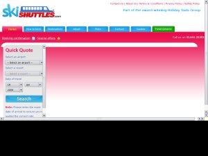Ski shuttles website