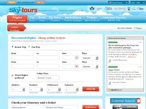 Skytours US website