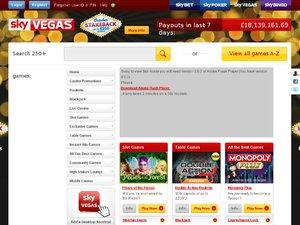 Sky Vegas website