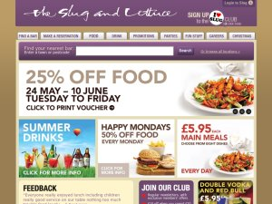 Slug and Lettuce website