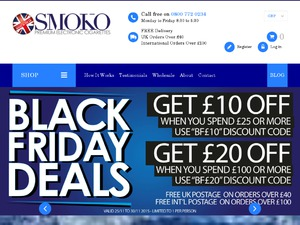 Smoko UK website
