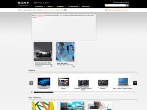 Sony Magazine website