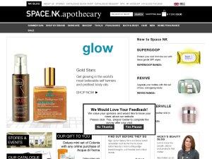 Space NK website