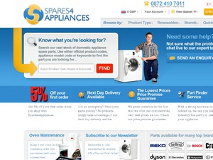 spares4appliances website