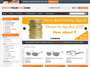 Specky Four Eyes website