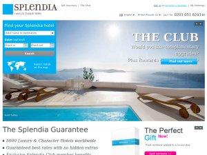 Splendia website
