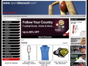 Sport Discount website