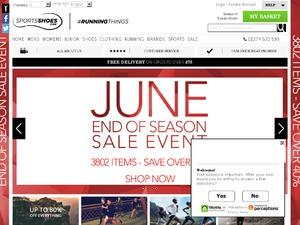 SportsShoes website