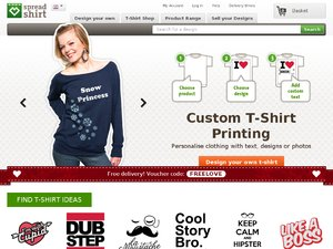 Spreadshirt website