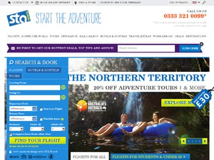 STA Travel UK website