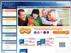 Steganos website