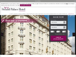 Strand Palace Hotel website
